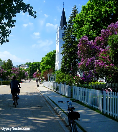 Sleepy Mackinac Island is bike friendly, but not car friendly