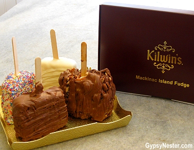 Krispies at Kilwin's Fudge on Mackinac Island, Upper Peninsula, Michigan