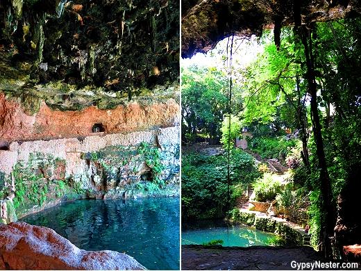 Cenote Zaci in Valladolid, Mexico