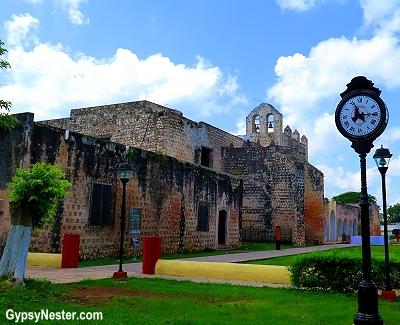 The church and former monastery San Bernandino de Siena in Valladolid, Mexico