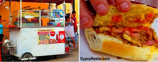 Conchinita papil street cart in Valladolid, Mexico