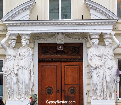 A doorway in Vienna, Austria