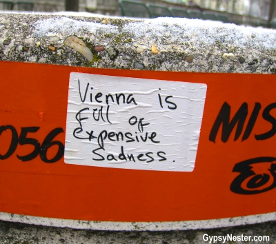Vienna is Full of expensive Sadness graffiti