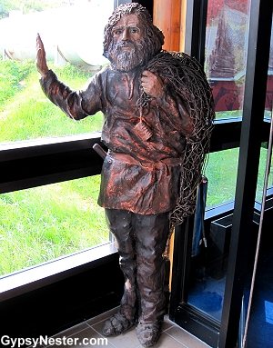 Viking sculpture at L'Anse aux Meadows Viking Landing Site, Newfoundland