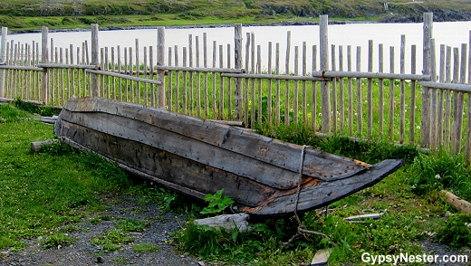 Viking boat replica at L'Anse aux Meadows Viking Landing Site, Newfoundland