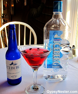Iceberg Beer, iceberg martini and Iceberg Vodka, Newfoundland