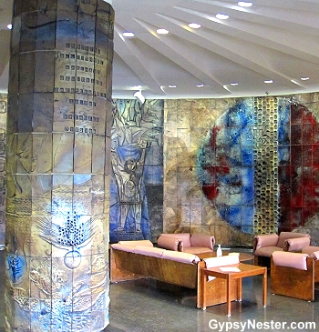 The lobby of the hospital in St. Anthony, Newfoundland