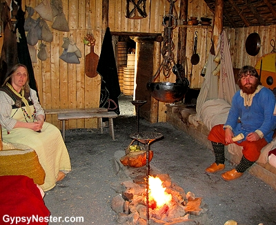 Costumed reenactors at L'Anse aux Meadows Viking Landing Site, Newfoundland