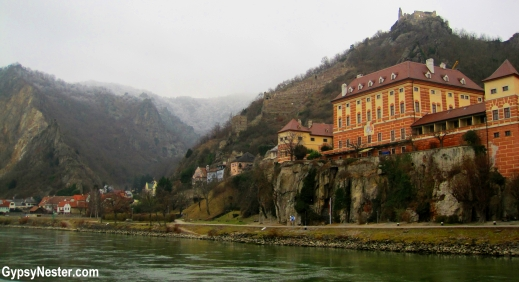 The beautiful Wachau Valley in Austria from the Danube River