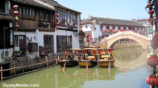 The water town of Zhujiajiao, China near Shanghai