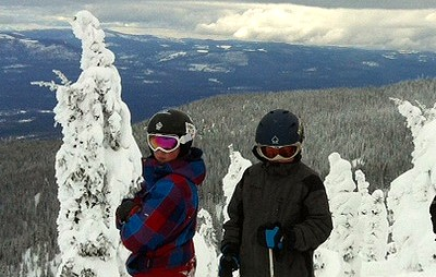 Snow ghosts on Big Mountain in Whitefish Montana!
