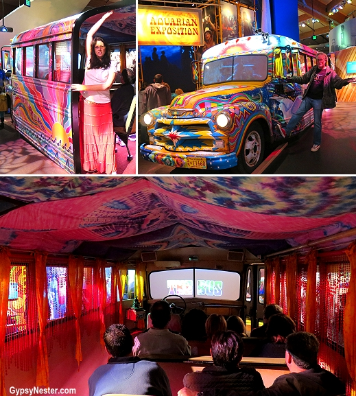 The magic bus at the Woodstock Museum at Bethel Woods Center of the Arts