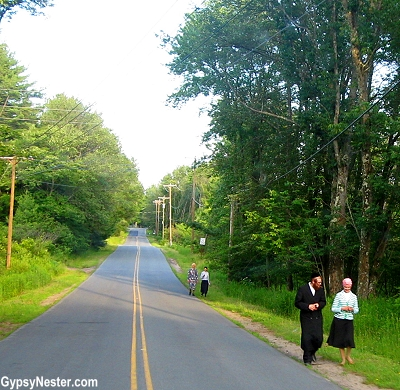 On the road to the Woodstock site