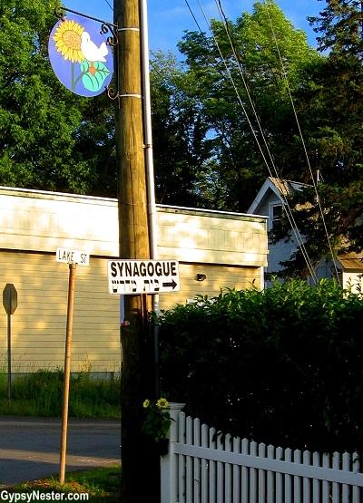 Signs in White Lake, New York