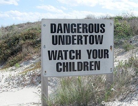 Watch your children do what? Disappear into the briny deep? Located at Mustang Island State Park in Texas.