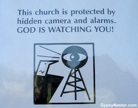 The GypsyNesters | God is Watching You! – Zany Park Signs