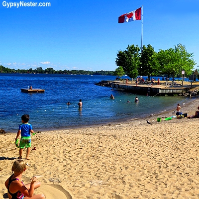 The beach at Gananoque, Ontario, Canada