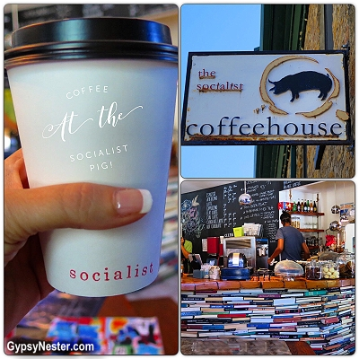 Coffee at the Socialist Pig Coffeehouse in Gananoque, Ontario, Canada