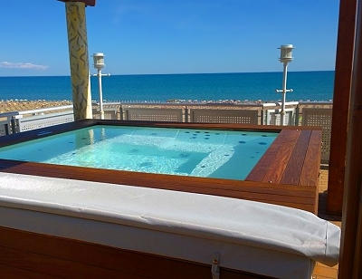 The hot tub at Hotel Ambassador in Bibione, Italy
