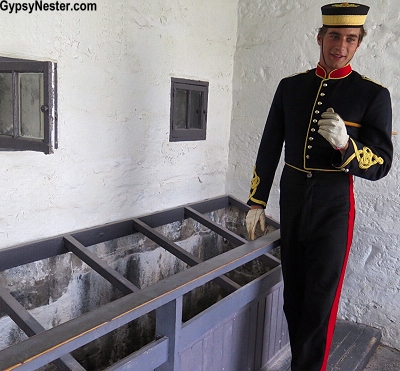 The vintage men's latrine at Fort Henry had no seats - so the soldiers didn't lallygag in there (reading the paper? playing games on their phones?) Bet it worked!