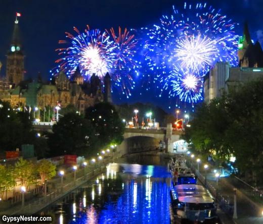 Fireworks over Canada's Capital - Ottawa, Ontario