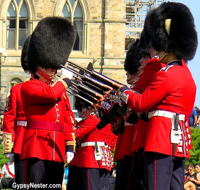 The Changing of the Guard in Ottawa, Ontario, Canada
