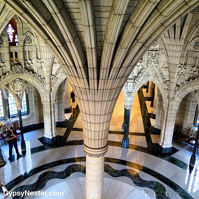 Inside the Parliment Building of Ottawa, Ontario, Canada