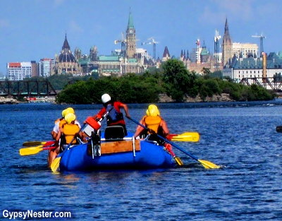 Rafting through Ottawa, Ontario, Canada